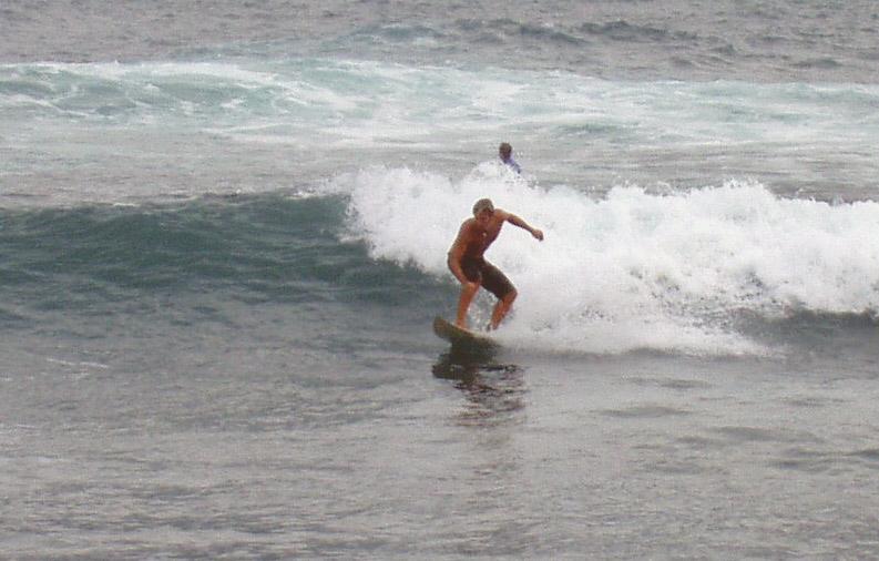 Nick, surfen in Puerto de la Cruz