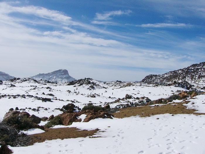 Las Canadas - Schnee am Teide, Caldera