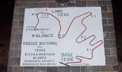 Schild im Parque Nacional del Teide