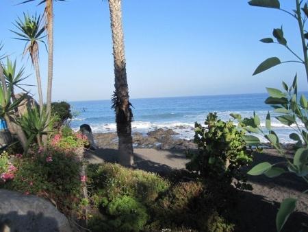 Blick Lavafelsen strand