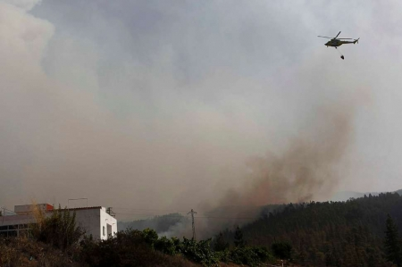 Helikopter Teneriffa Feuer