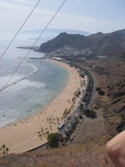 Playa Las Teresitas Santa Cruz von oben