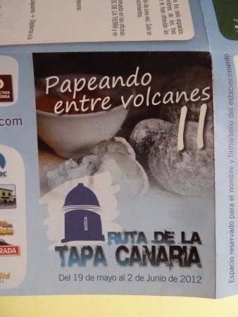 Kanarische Tapas - Route, Ruta de la Tapa Canaria