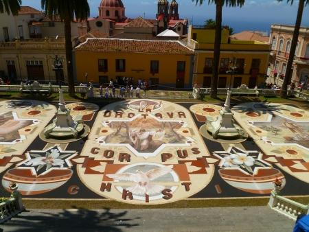 Sandteppich Rathaus, La Orotava, Fiesta del Corpus Cristi